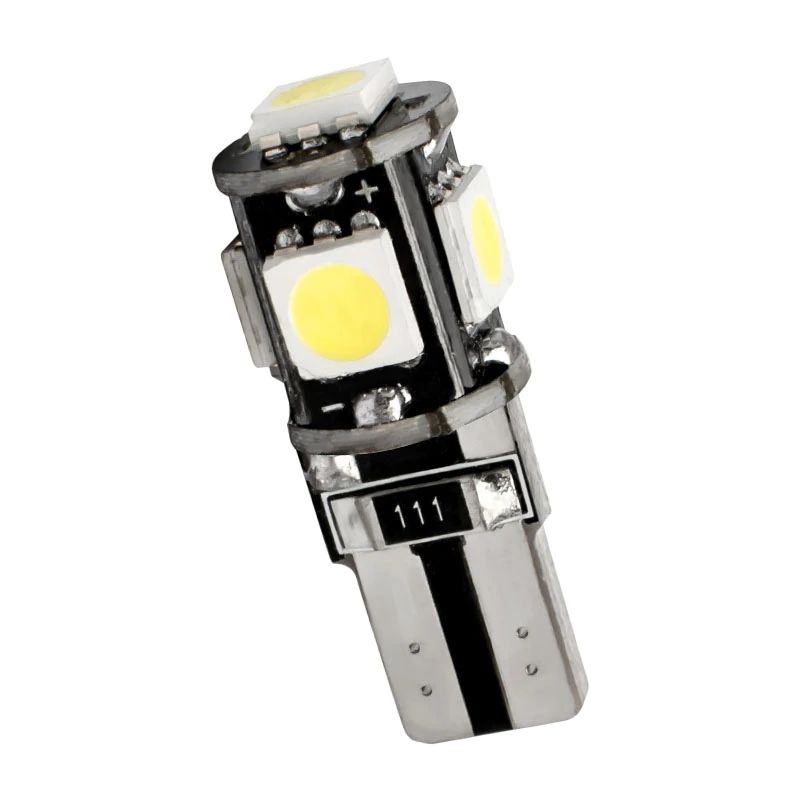 T10 LED Bulb Canbus 12V 5050 5smd 6000K 5W5 W5W LED No error Car Wedge Side Signal Clearance Lamp