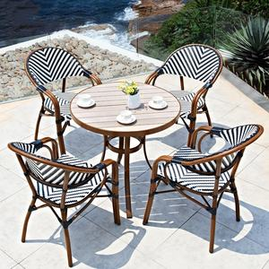 (SP-OC367) French restaurant garden chairs outdoor cafe furniture bistro set rattan chairs