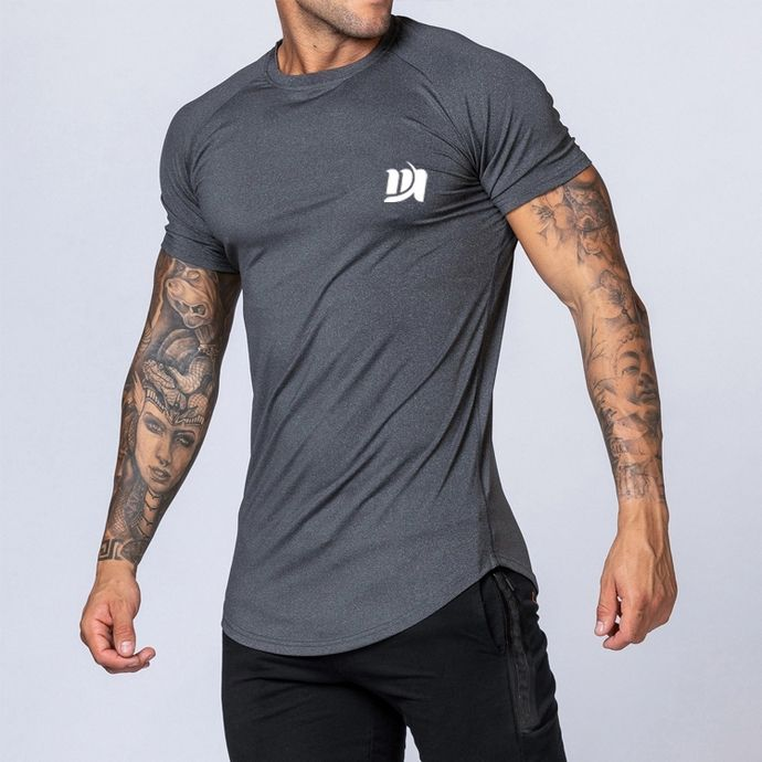 95% polyester 5% elastane dryfit stretch gym muscle men t shirts