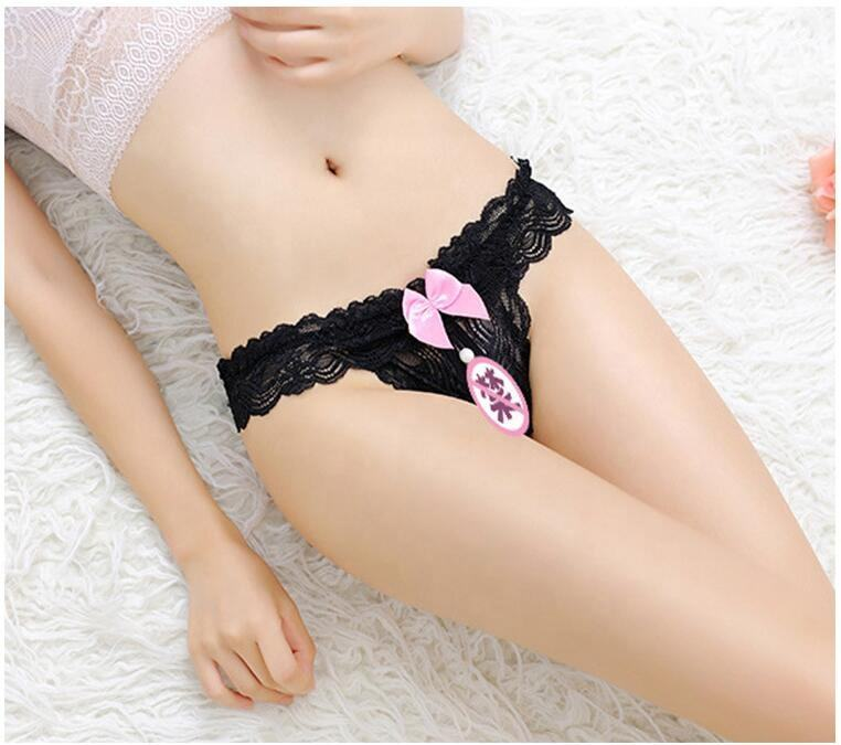 Women G-strings And Thongs With Pearls Tangas Panties Erotic Lingerie