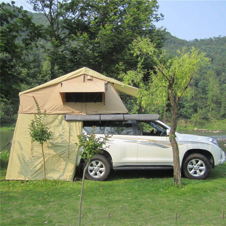 South Korea's car roof tent anti-ultraviolet, insect-proof telescopic ladder high-end 4 Persons Hard Shell Roof Top Tents