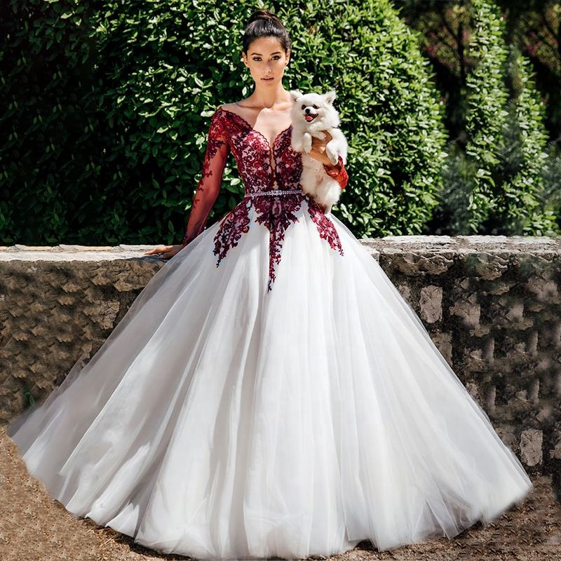 China Red White Wedding Dresses China Red White Wedding Dresses Manufacturers And Suppliers On Alibaba Com
