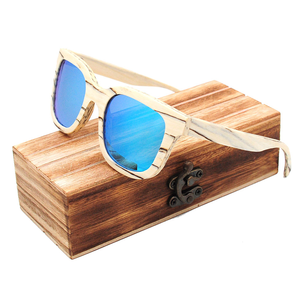 Super thin eco-friendly handmade wooden bamboo custom logo design polarized sunglasses