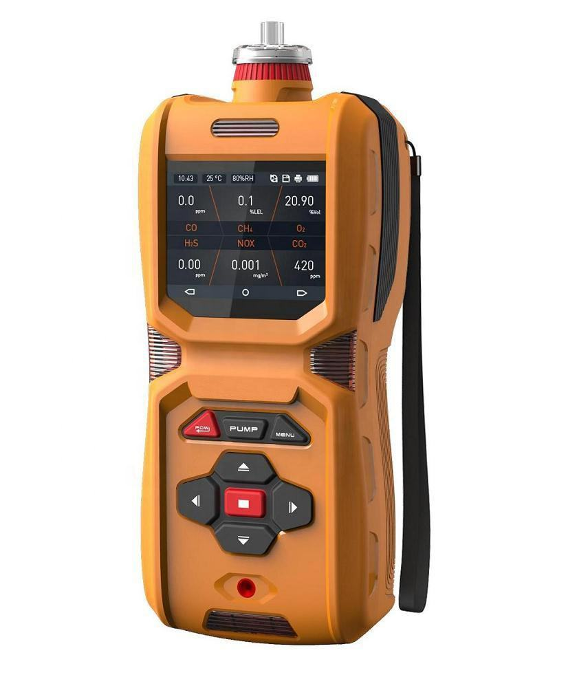 MS600-6-In-One Detektor Gas CO H2S O2 EX CO2 NOx Portable Multi Gas Analyzer