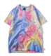 Custom new design colorful tie die 100%cotton jersey t shirt