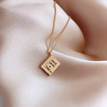 2020 fashion book gold pendant necklace