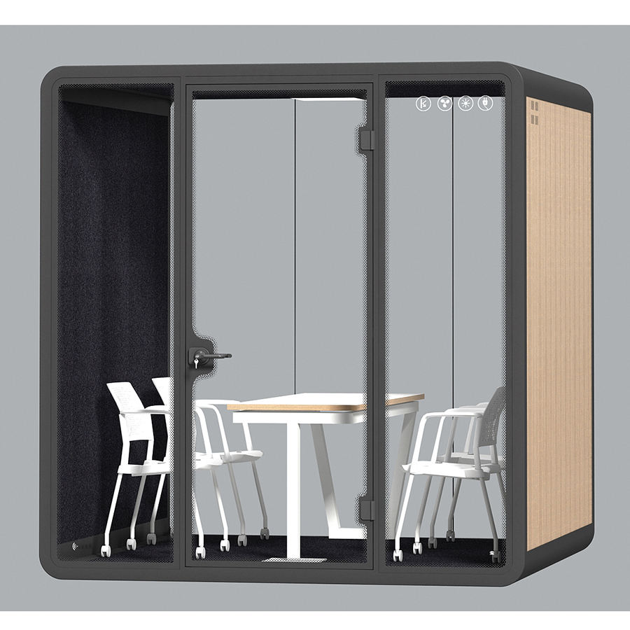 Office use soundproof acoustic phone booth office work pod with customized size