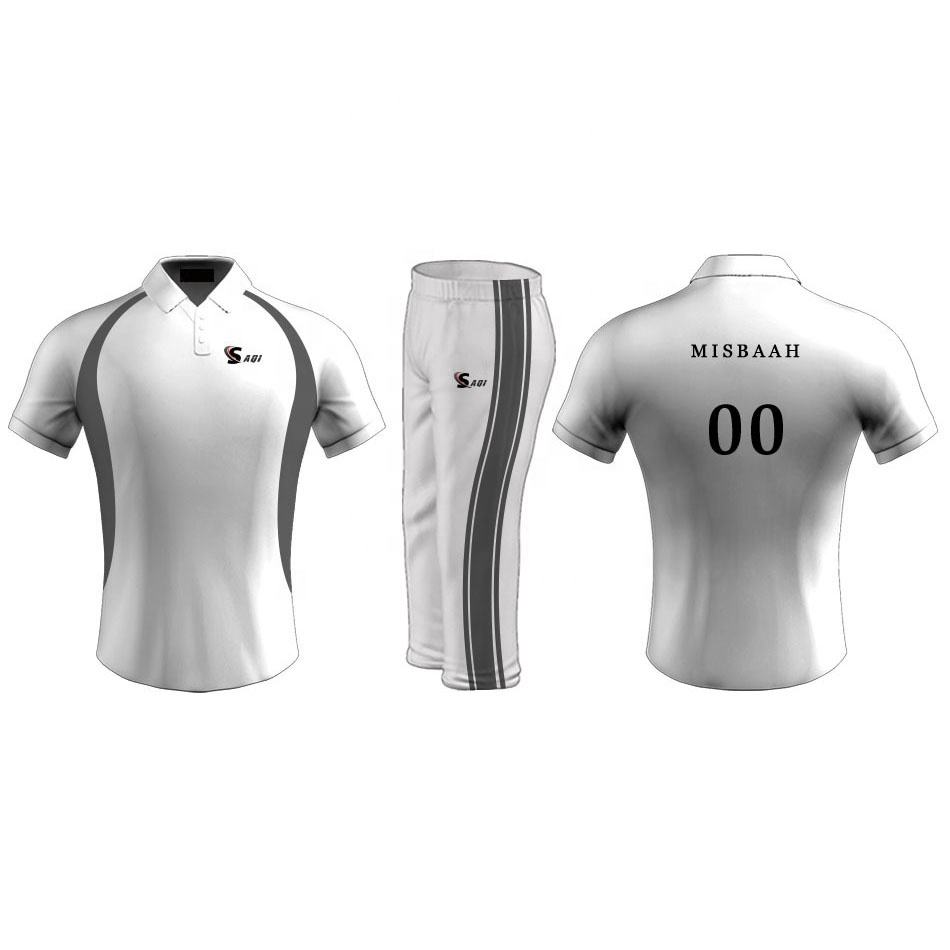 Best Design Slim Fit Cheap Custom Sportswear Cricket Uniform / cricket jersey