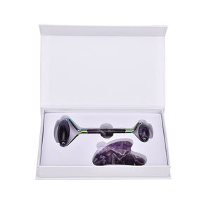 Amethyst Roller Facial Massager Stone Roller | Purple Jade Roller | 100% Real and Natural Amethyst Crystal