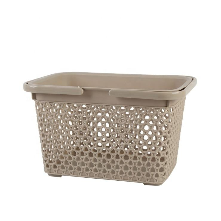 plastic Hand Baskets Popular Customized Color Package Manufacturer Wholesale Multifunction PP Storage Basket With Handle
