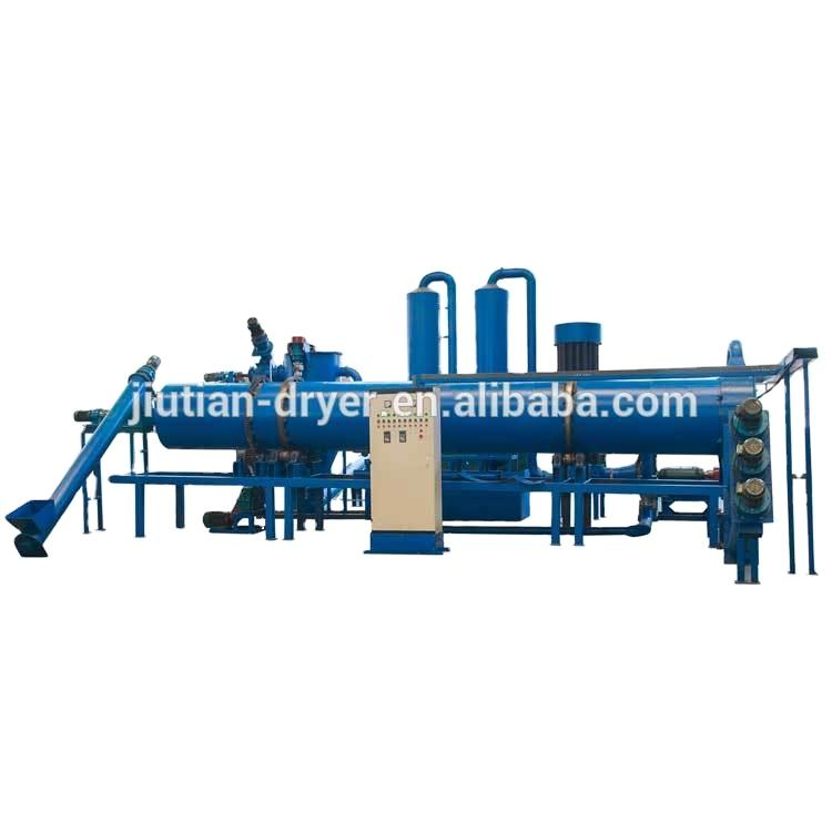 Continuous rotary sawdust biomass carbonization furnace charcoal powder machine