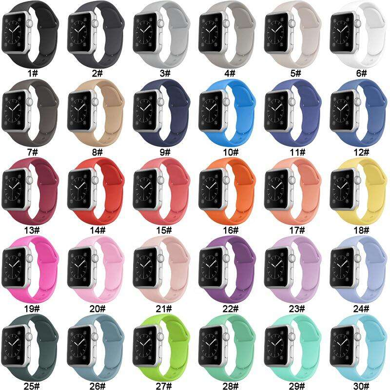 Coolyep Wholesale Price Sport Watch belt Watch Band Silicone Watches Strap for Apple iWatch 6 SE 38MM 40MM 42MM 44MM Series 5