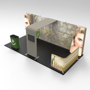 advertising 6x3 trade show booth advertising stand exhibition booth partition walls