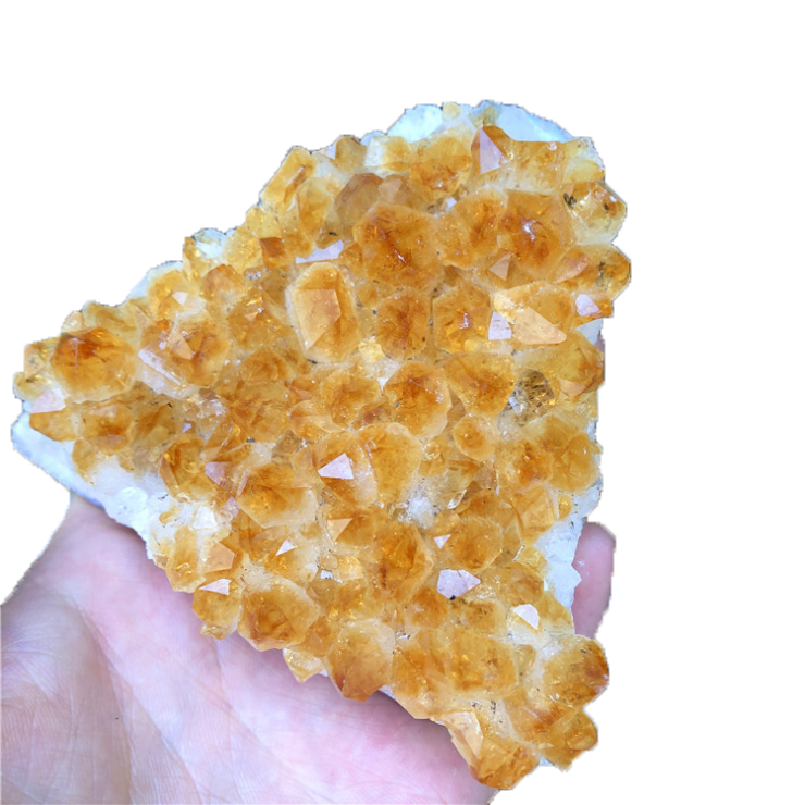 Wholesale Yellow Crystal Healing Cluster Natural Quartz Clear Citrine Crystal Cluster