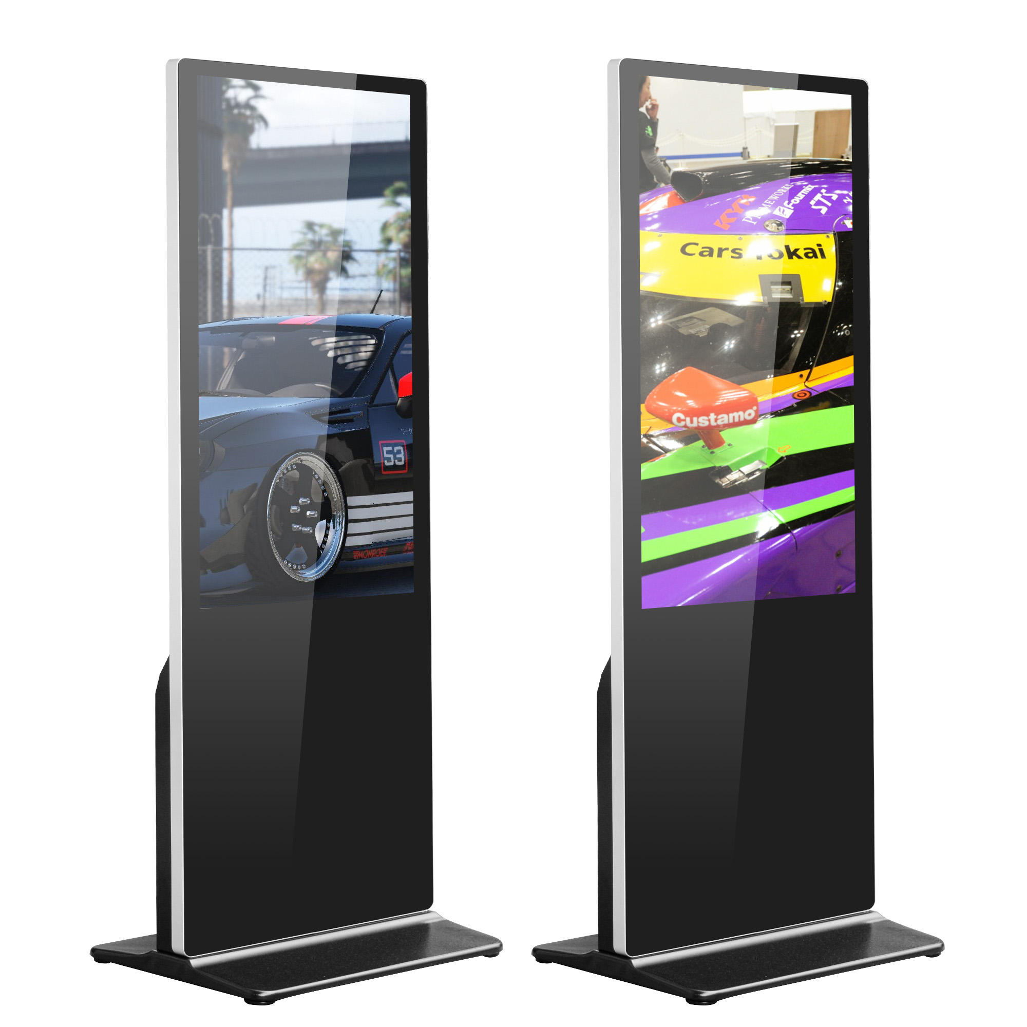 vertical lcd touch advertising player screen digital signage display kiosk with infrared touch