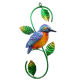 Liffy Garden And Home Kingfisher Oriole Robin Peacock Metal Decorative Wall Art Hanging