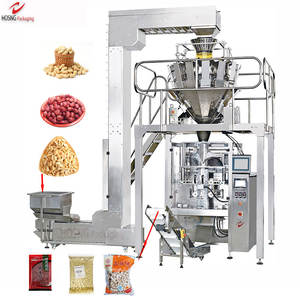 Automatic Peanut Machine Manufacturer Automatic Peanut Packing Machine Multi Heads Weigher Automatic Vertical Ffs Sugar Rice Peanut Granular Packing Production Line Packaging Machine Manufacturer