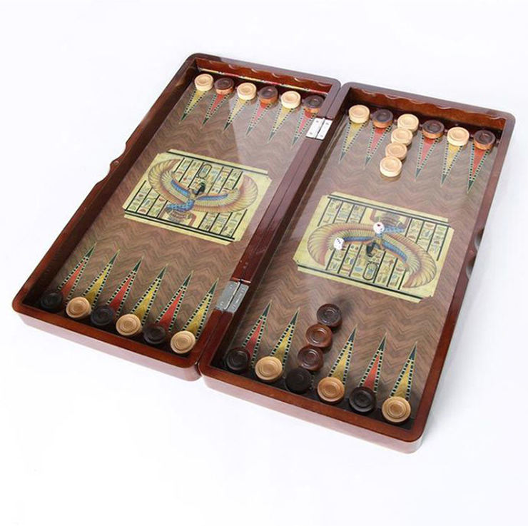Factory Direct Handmade High End Lacquered Wooden Backgammon Board Games Gift Set