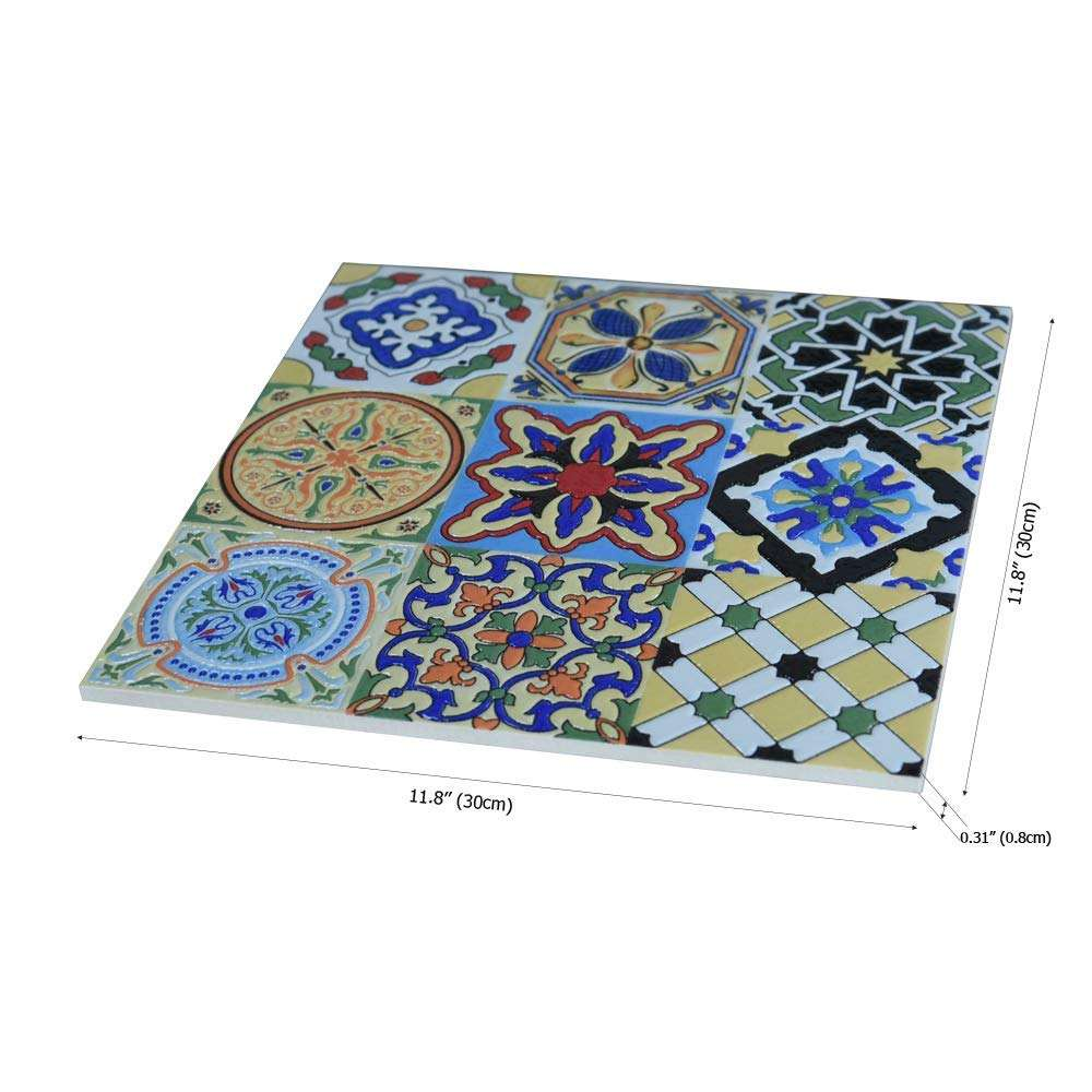 Spanish Mediterranean Decor, Hand Painted Talavera Mexican Tiles