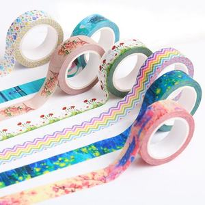 Custom Printed Colored Paper Stationery Washi Masking Tape