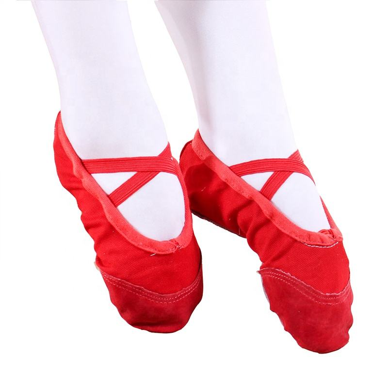 Flexible Ballerina Dance Split Flat Colorful Women Girls Pink Kids Red Ballet Shoes