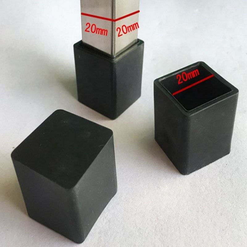 Plastic square pvc pipe end caps rubber end caps for pipe
