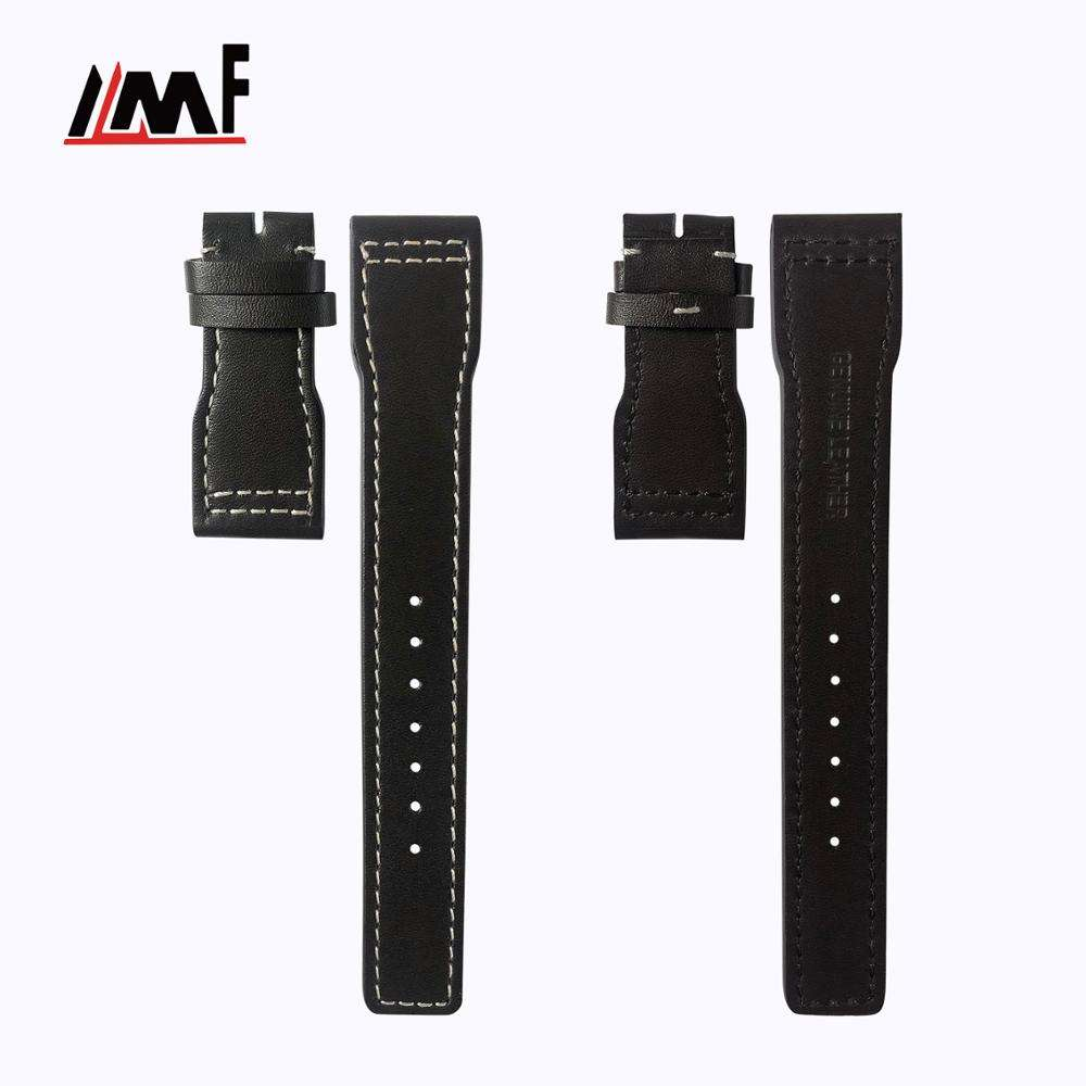 Oem And Odm Regal Real Leather Breathable Watch Straps For Iwc
