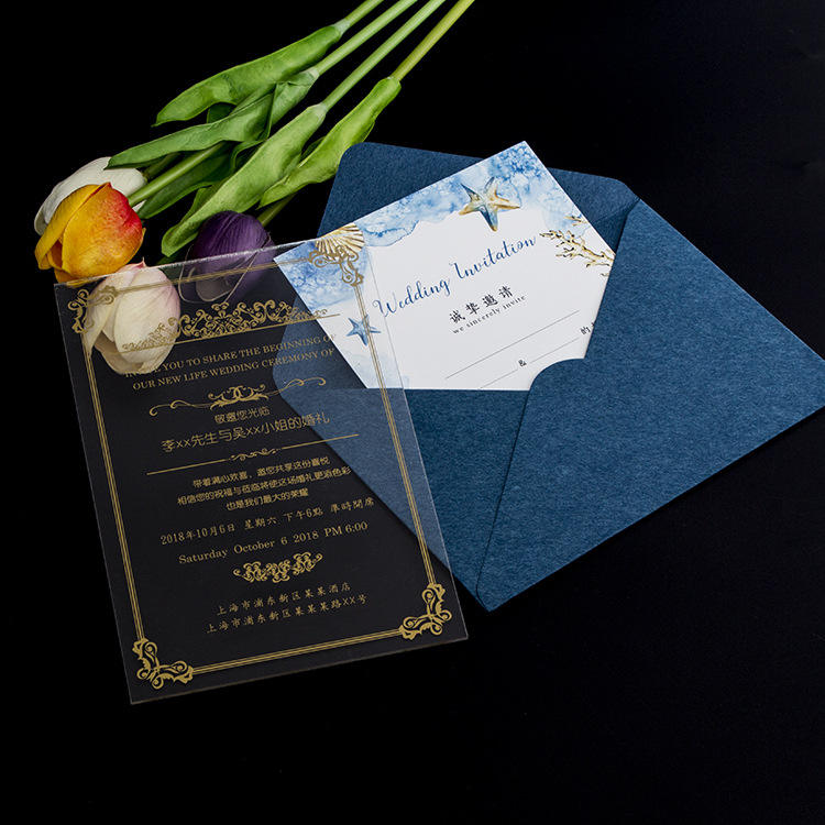 Glass Wedding Invitation