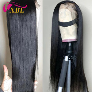 XBL 150% density virgin brazilian human hair customized lace wigs,brazilian virgin unprocessed lace front wigs for black women