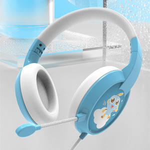 New design noise canceling stereo comfortable kid headset microphone 85dB wire children kid headphones