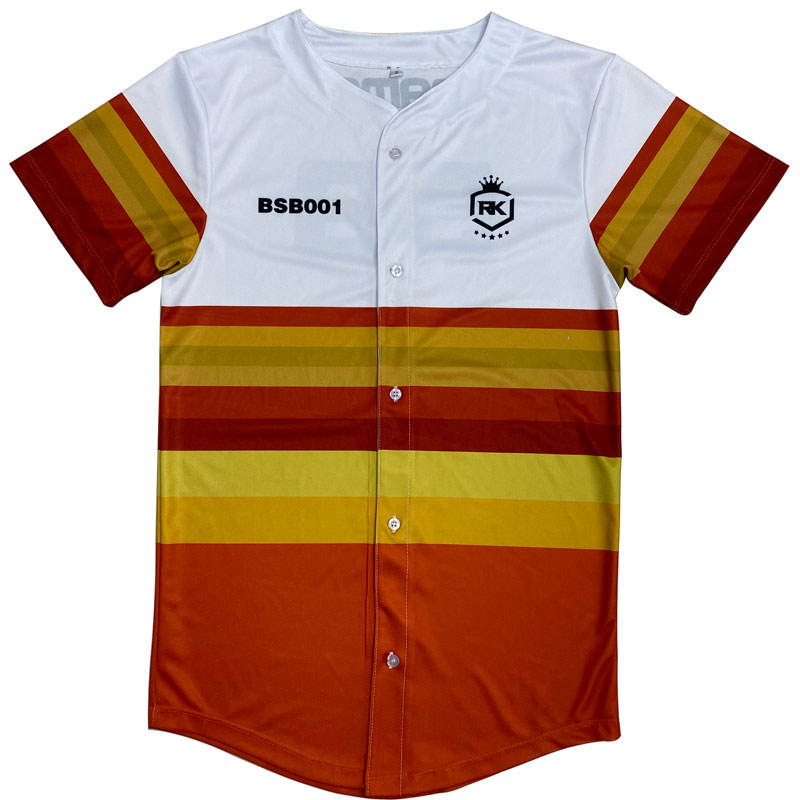 OEM Newest Customized Low MOQ Hot Sale Mesh Baseball Jersey
