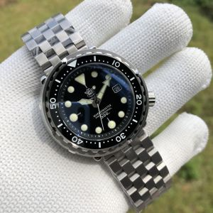 In Stock! SD1975 Japan Movement NH35 300M Waterproof Luxury Mens Diver Watch with SS bracelet