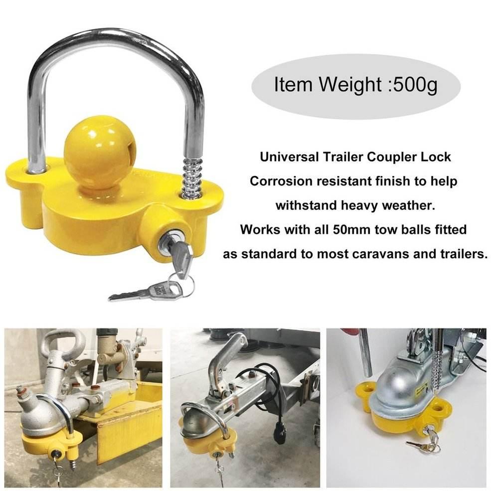 Coupler Lock Trailer Parts Zinc Die Cast Coupler Lock Universal Coupling for Tow Caravan