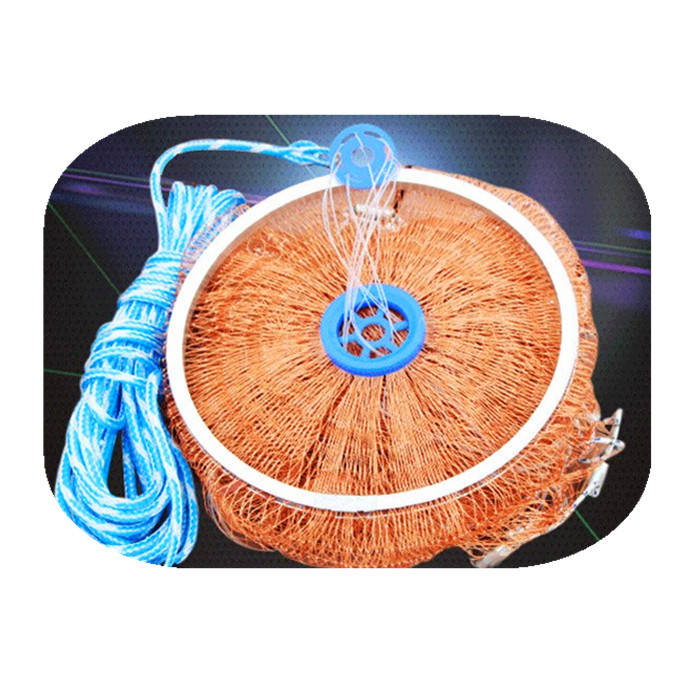 Aluminum ring USA cast nets easy throw fly fishing net tool small mesh outdoor hand throw catch fish network