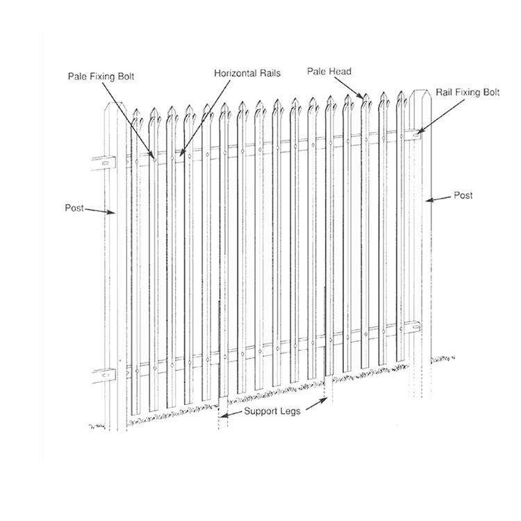 New product galvanized stainless gates tubular steel fences with outdoor powder coated