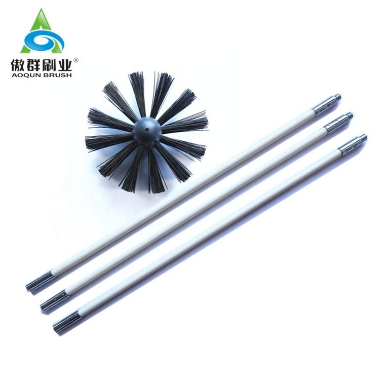 Long Reach Rod Chimney Cleaning Dryer Vent Duct Brush