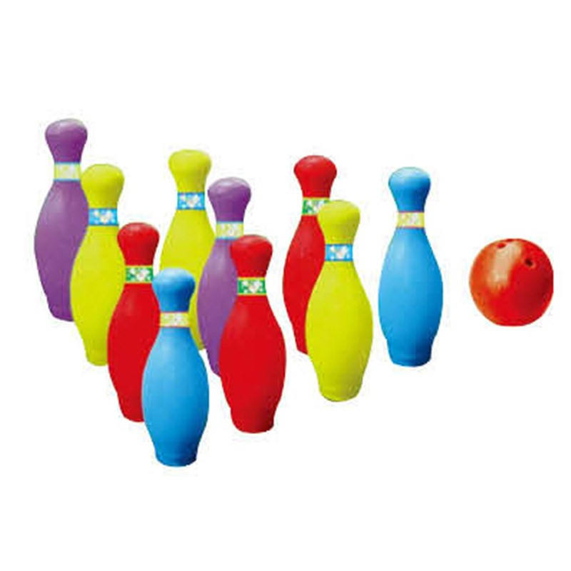 Kids bowling balls play set colorful plastic indoor portable bowling balls for children