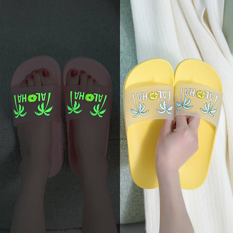Fashion Night Lights House causal sandal, Non-slip Indoor Shower Slipper For women and men, summer pool slide shoes