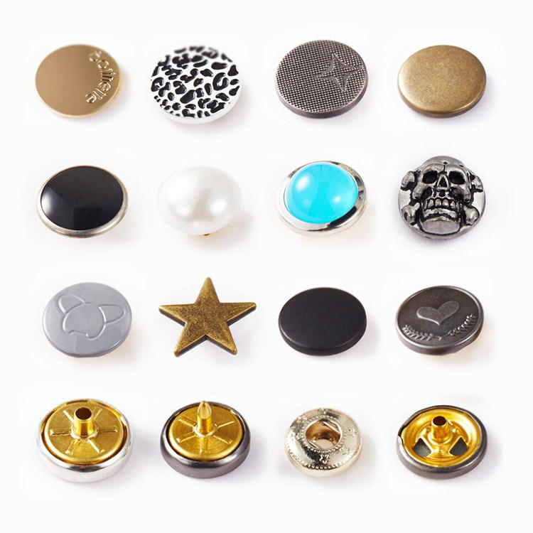 NIUNIU Factory Customize Logo Wholesale Best Quality Metal Press Snap Button For Garment From China