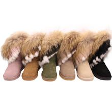 latest design winter  sheepskin boots shoes for woman