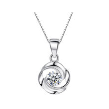 luxury fashion zircon stone 925 sterling silver women pendant necklace pendant jewelry necklace for women