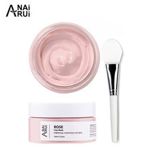 face products skin care natural Organic Rose Petals Whitening Exfoliating Rose Mud Facial Mask Pink Clay Mask