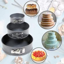 Wholesale Custom Removable bottom Nonstick Cake Round Mold Baking Bakeware Pan