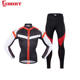 Aibort Winter Female Apparel Kit Ladies Jersey Women Long Sleeve Cycling Bib Tight Bike Clothing Set