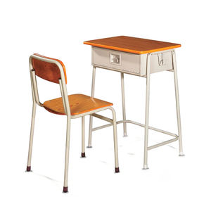 School student furniture cheap price factory study table and chair set data entry work home