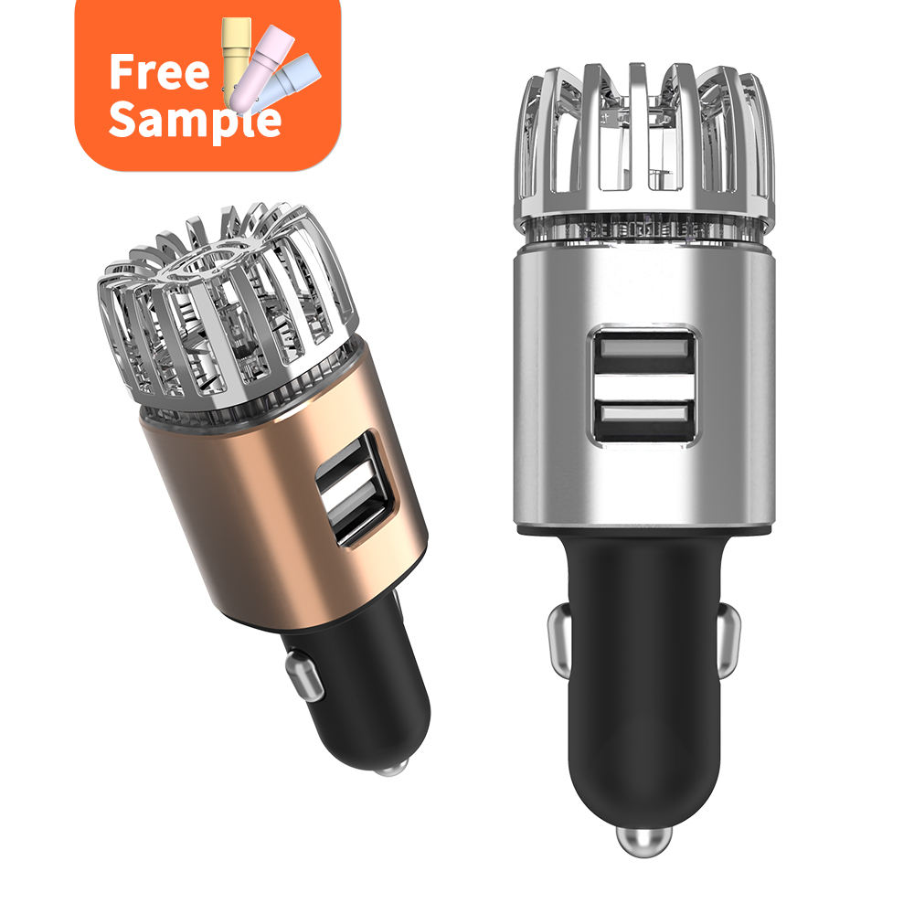 9th Generation Dual Car Charger Aircleaner Ionizer Air Cleaner Mini Car Air Purifier Ionizer Generator