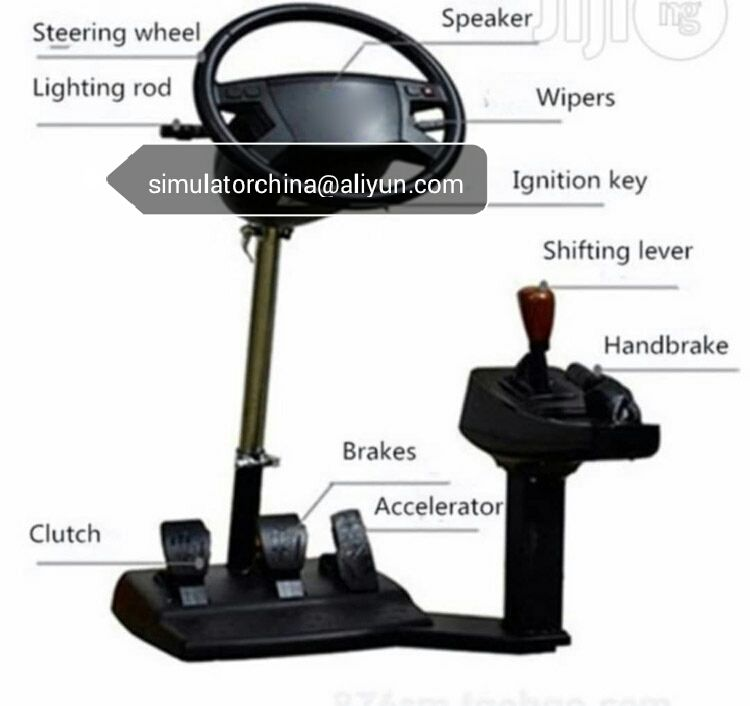 portable car driving school training simulator