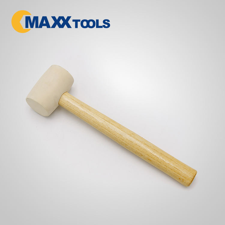 Machinist Hammer Mallet High Quality White Head Rubber Mallet Wood Handle Hammer