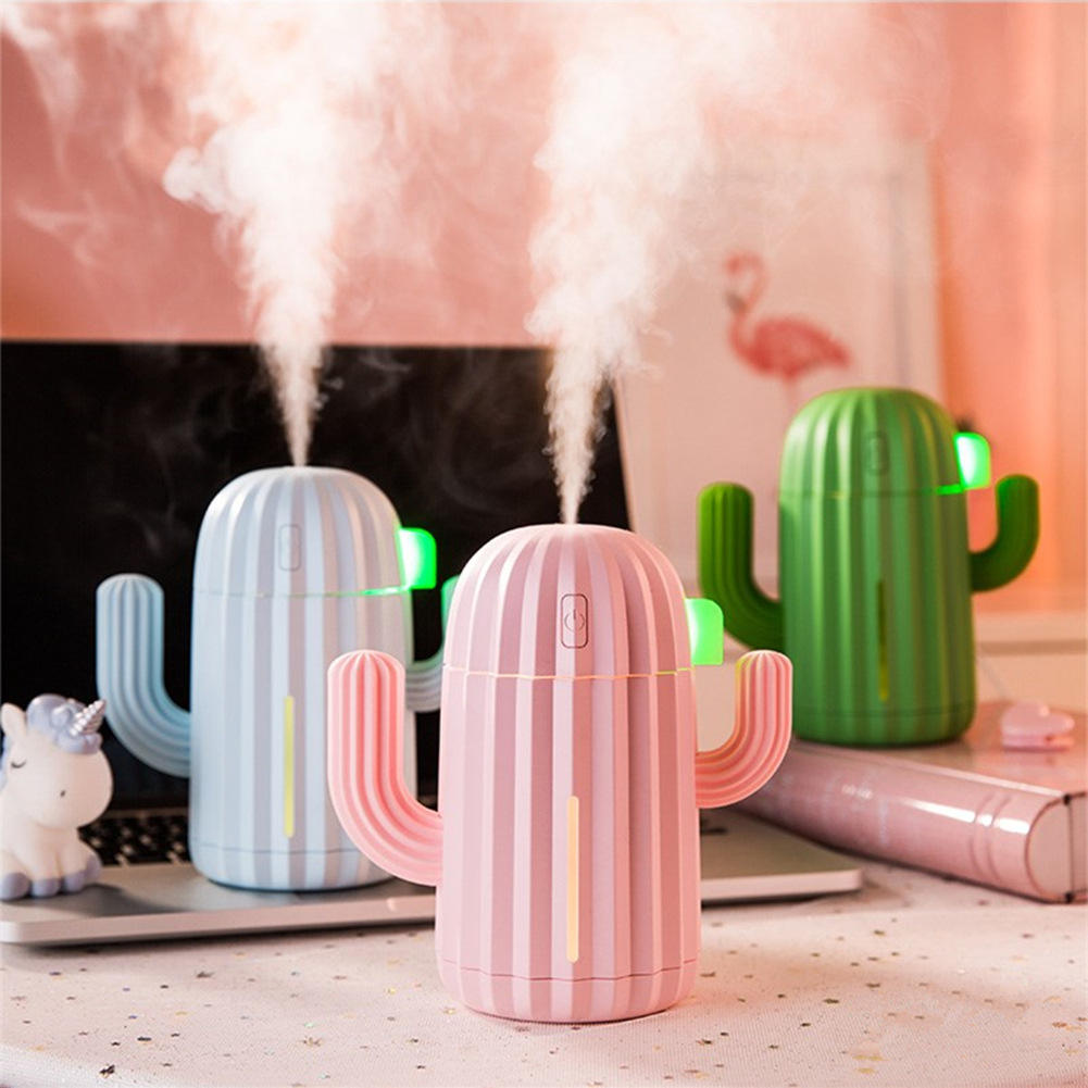 Creative Cactus Portable Rechargeable Battery Powered Mini Humidifier
