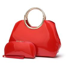 Light-Coated Patent Leather One-Shoulder Bridal Bag New Female Bag European And American Style Fan Bright Face Handbag